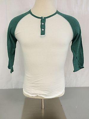 Alternative Apparel Mens 3/4 Sleeve Organic Baseball T-Shirt Henley (Baseball Organic Mens T-shirt)