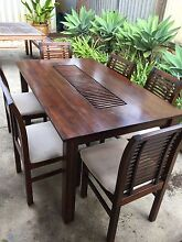 Solid Jarrah Dining Table and 6 Chairs Como South Perth Area Preview