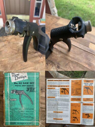 "Stanley Vintage No. 42 ""Pistol Grip"" Saw Set IOB, Barley Used"