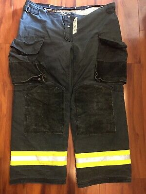 Firefighter Janesville Lion Apparel Turnout Bunker Pants 44x32 08 Black Costume