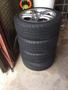 Subaru WRX wheels 17 inch new kumho tyres