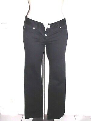 MOULANT JEANS TAILLE BASSE STRETCH FEMME SISLEY NOIR 2 POCHES FACE DOS T:36/38