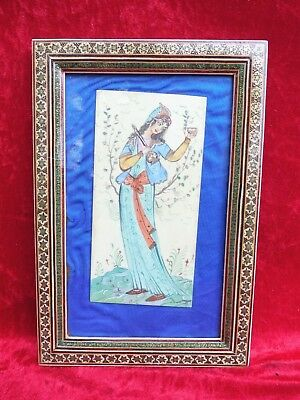 Pretty Picture __Orient__Miniature Painting__ORIENTAL BEAUTY__BEAUTIFUL FRAME __