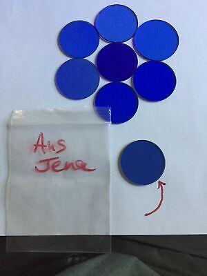 Zeiss Microscope Clear Blue Glass Filter B12 Aus Jena C311 32mm 12