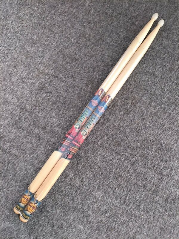 New Sealed Hard Rock Cafe London Drumsticks Wood