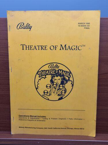 THEATRE OF MAGIC Pinball Machine OPERATIONS MANUAL FINAL VERSION Bally 1995