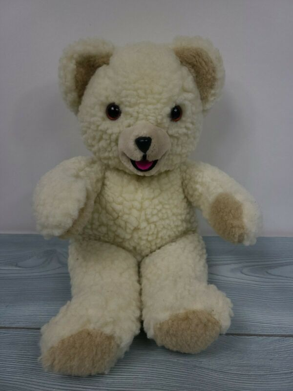 "Vintage 1986 Russ Lever Brothers 16"" Snuggle Bear Fabric Softener Stuffed Animal"