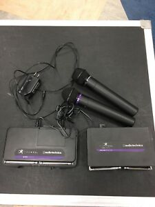 Audio-technica wireless mics and receivers