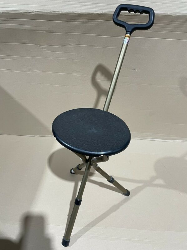 Folding+Aluminium+Tripod+Cane+Chair