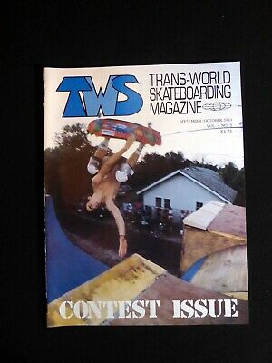 1983 Transworld Skateboarding Magazine, Volume 1 #3, Lance Mountain on -