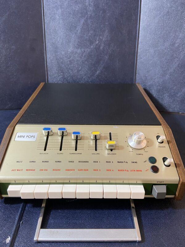 Vintage Automatic Rhythm Instrument Analog Drum Machine Keio Mini Pops 7 Japan