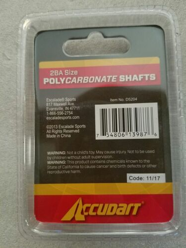 NEW Accudart Polycarbonate Shafts 3 For Darts 2BA Size USA SHIPS FREE  - $6.49