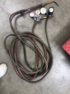 Radnoroxygenacetylene Gas Weldingcutting Torch Set Gauges 25ft Hosepraxair