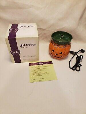 Scentsy Warmer Jack O' Lantern Halloween Pumpkin Fall Full Size Warmer Retired