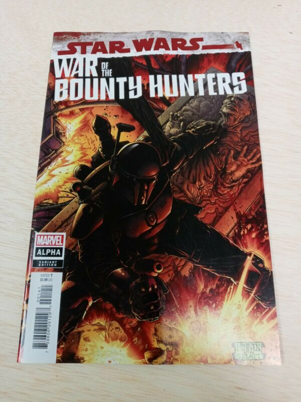 STAR WARS WAR OF THE BOUNTY HUNTERS ALPHA #1 1:50 VARIANT BLACK ARMOR INCENTIVE