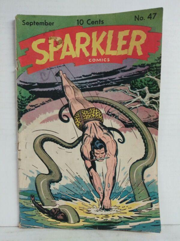 Sparkler Comics  #47 Great Tarzan Cover