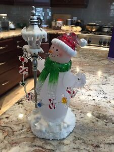 Like new Lighted Snowman with Lantern