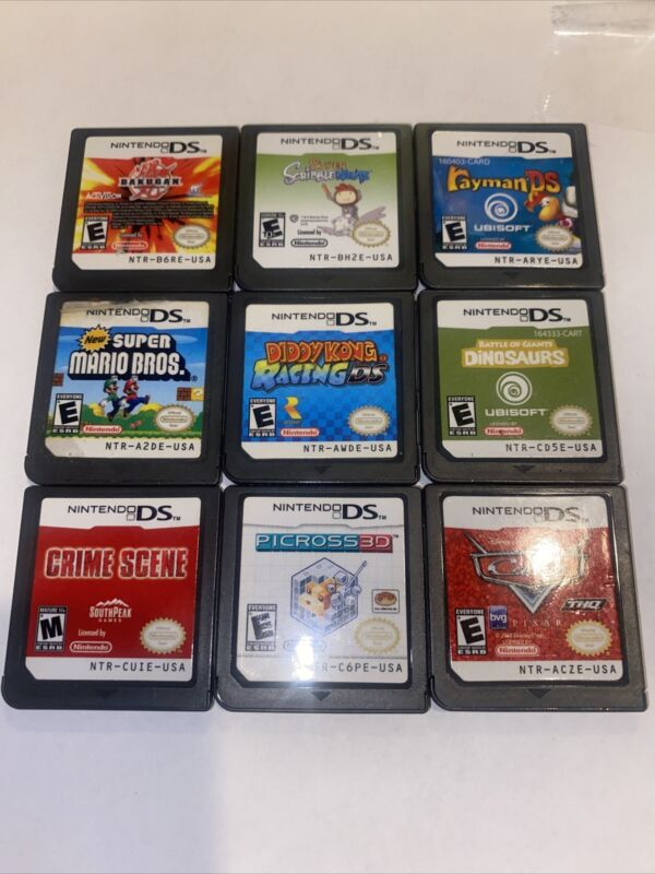 Nintendo DS - Video Game Bundle - Lot of 9 Games - Cartridge Only - Free Ship!!!