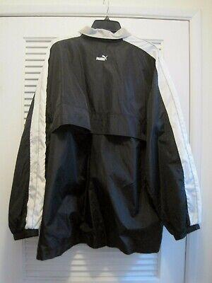Vintage Puma Track Jacket Windbreaker Training Full Zip Lined Mens Sz Large
