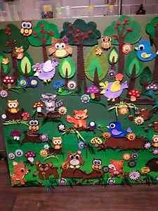 Felt art work - woodland animals Heathridge Joondalup Area Preview