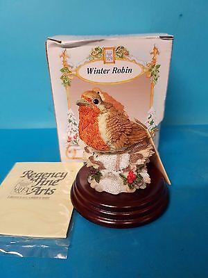 Winter Robin Regency Fine Arts on Plinth Boxed