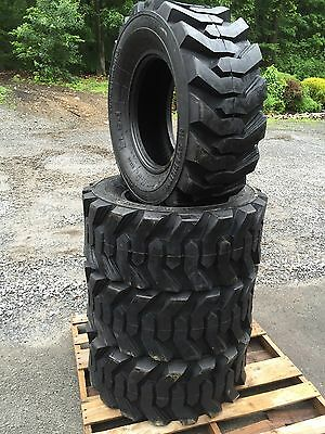 4 New 14-17.5 Skid Steer Tires 14x17.5 - 14 Ply Rating - For Bobcat Case Etc