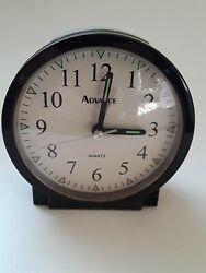 Advance Quartz Analog Alarm Clock Battery Operated~Sharp Design~Loud Alarm