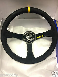 Drifting 350mm Suede Leather Deep Dish Steering Wheel OMP MOMO NARDI SPARCO