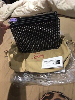 Authentic 100% Christian Louboutin Triloubi Large Calf Paris/spikes Handbag