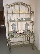 Beautiful full solid cast ornamental iron glass buffet display cabinet Loganholme Logan Area Preview