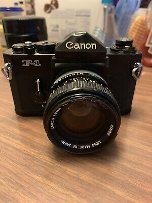 Canon F-1 Mechanical 35mm Camera Body w/ 50 mm S.S.C Lens - Film Tested