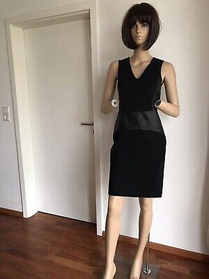 NPca.489🌹SALE🌹 NEU, Stylebop,Sehr feminines Kleid Leder DKNY,schwarz,Gr. S,36,