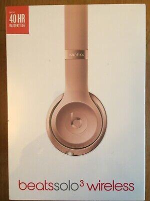 Auriculares Dr. Dre Beats Studio3 Wireless Over-Ear. Rosa dorado. Nuevos.