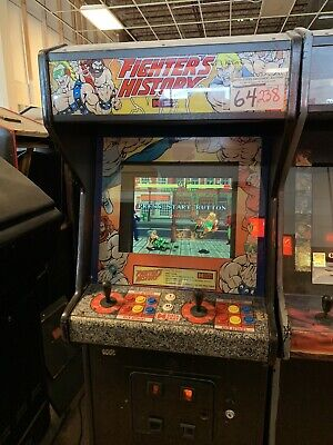 Data East Fighter's History Fighting Arcade Cabinet FREIGHT AVAILABLE
