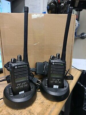 1 Used Motorola Cp185 Two Way Radio With Batteryand Charger Programmable