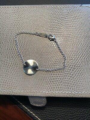"Ippolita ~ Sterling Silver ~ Wavy Disc Chain Link Bracelet  ~ 7"""