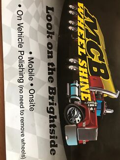 Mobile truck wheel polishing!