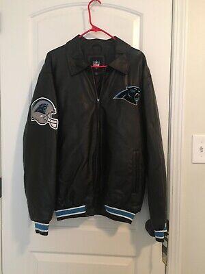 Carolina Panthers Faux Leather Men's Sz M Jacket Athletic Football Coat