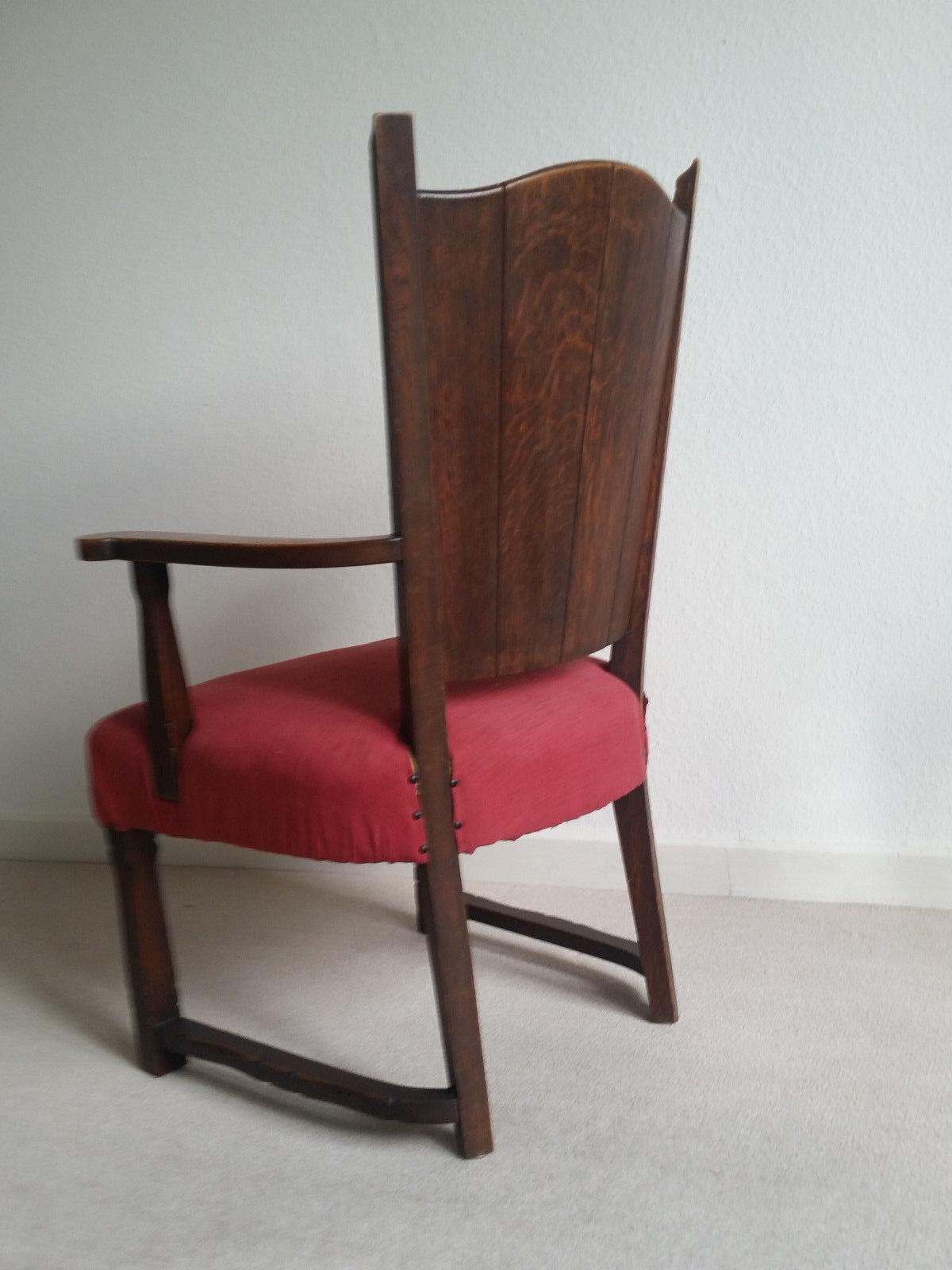 antiker polstersessel sessel stuhl b rostuhl aus den 20er 30er jahren eiche eur 149 00. Black Bedroom Furniture Sets. Home Design Ideas