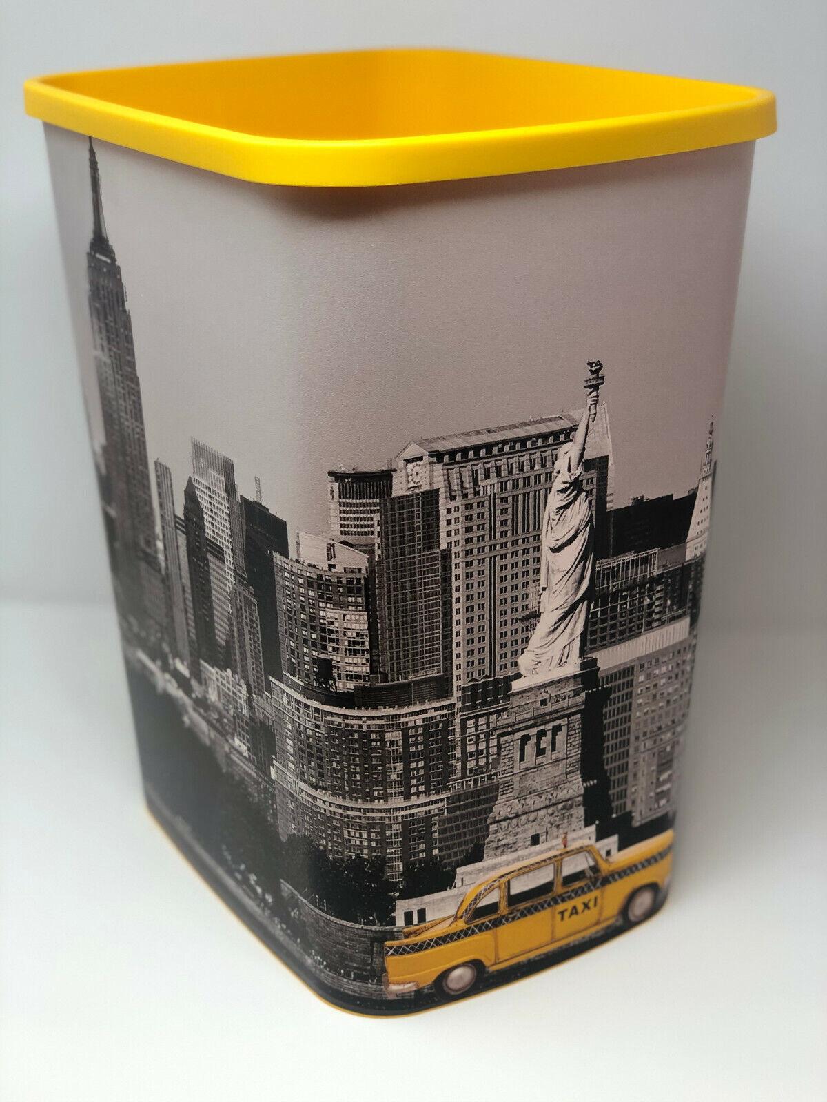 Hochwertiger Curver Papierkorb New York City 25 Liter / 39 cm hoch