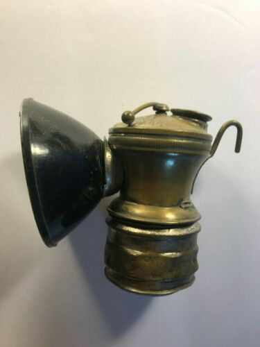 Antique Auto-Lite Coal Miners Brass Lamp Universal Lamp Co. MADE IN USA