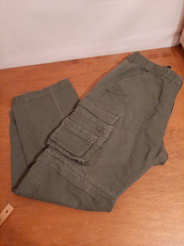 BSA Green Cargo Convertible Pants Classic 32