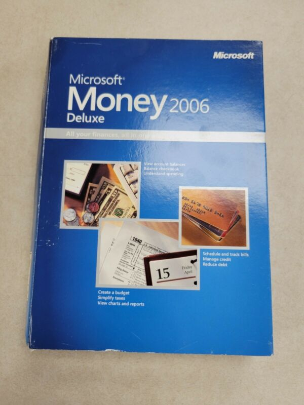 Microsoft Money 2006 Deluxe: Personal Finance Software NO manual