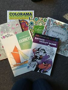 Used and unused colouring books