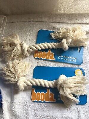(2) PETMATE Booda Bone Dog Rope Tug Toy Small