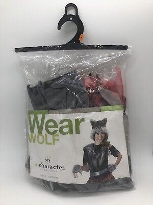 IN CHARACTER Wearwolf CHILD GIRL Teen HALLOWEEN COSTUME Small