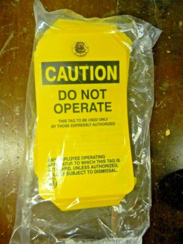 """GE Caution """"Do Not Operate""""  Safety Tags  (Lot of 2 with 25 to bag)"""
