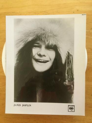 Janis Joplin 1969 original vintage press headshot photo