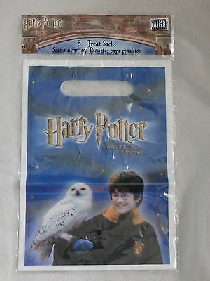 8 Harry Potter  And The Sorcerers Stone Treat Sacks Party Favor Bags 1Fbg2184