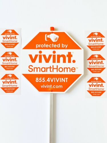 VIVINT. Security Yard Sign With 6 Sticker For Window And doors